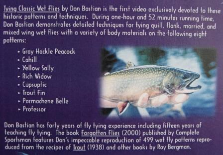 Tying Classic Wet Flies by Don Bastian - FishUSA.com - Fishing