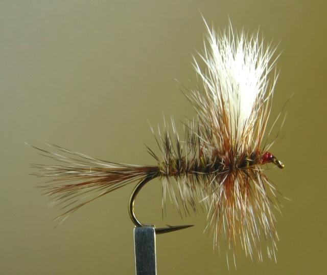 6  ADAMS WULFF  SIZE 10 LIGAS FLY FISHING FLIES