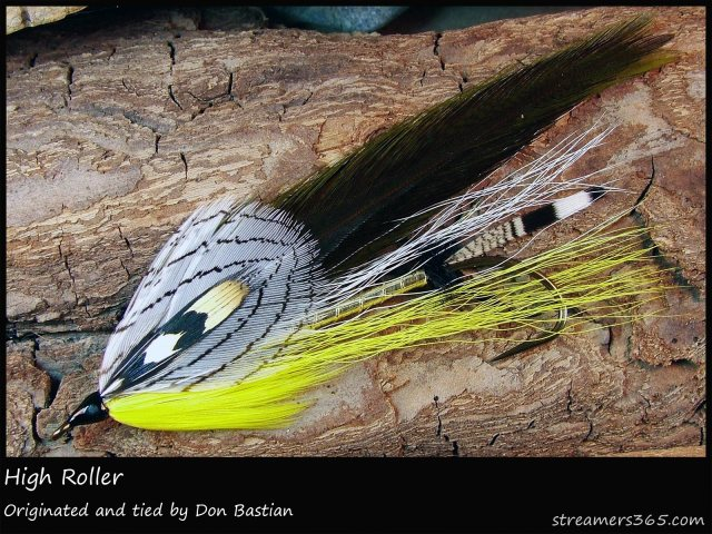 The High Roller, a Don Bastian original streamer design. Photo by Darren MacEachern, courtesy of Streamers365.com.