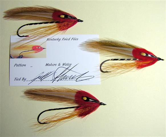Maker's and Water Streamer Variation, originated and tied by Joel Stansbury.