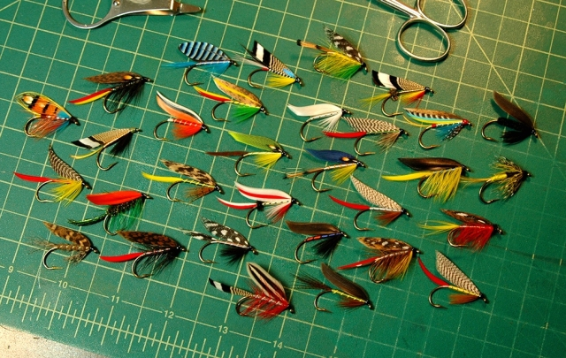 A nice variety of classic wet flies, tied by Stanley Miller of Oregon.
