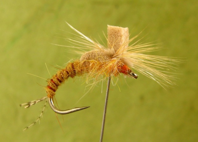Sulphur Parachute emerger. Tied and photographed by Don Bastian.