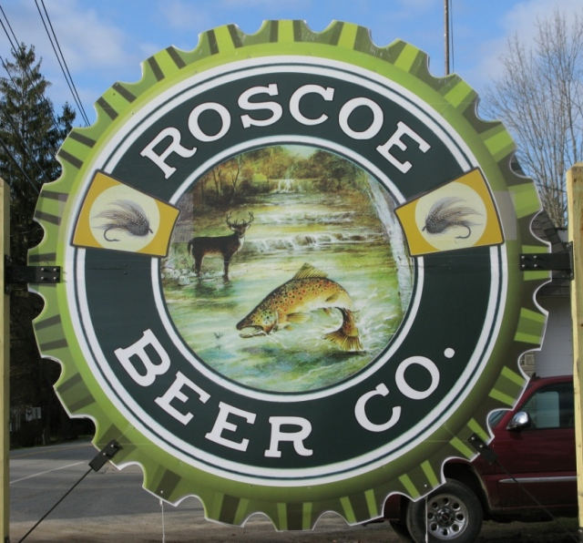 Roscoe Beer Company sign.
