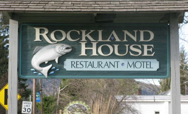 The Rockland House Sign.