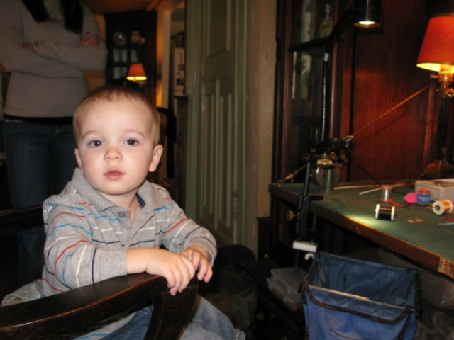 My grandson Benner - he's at that stage of contemplation as to his next move.