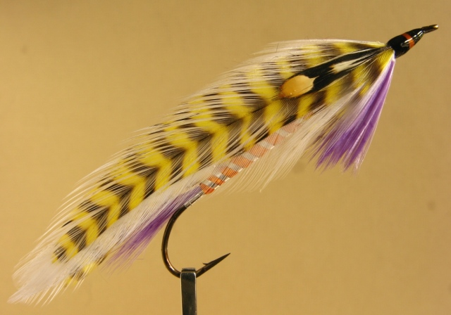 G. Donald Bartlett Streamer, tied and photogaphed by Don Bastian. The hooki is a aelic Supreme Martinek  Stevens Rangeley Style Streamer, size #2 - 8x long