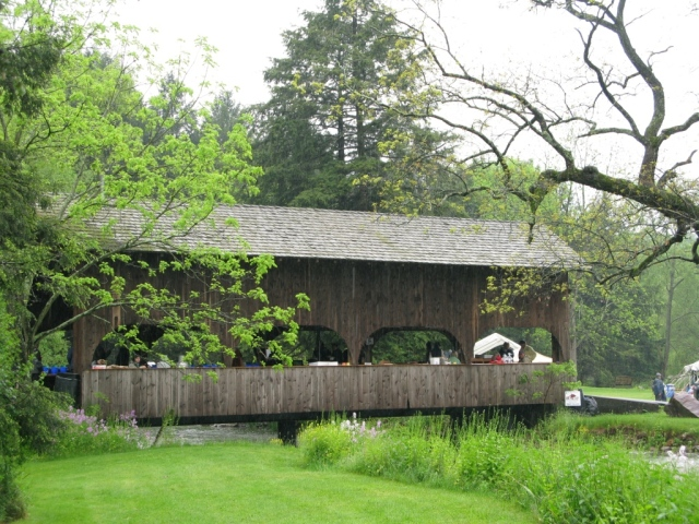 The covered bridge.