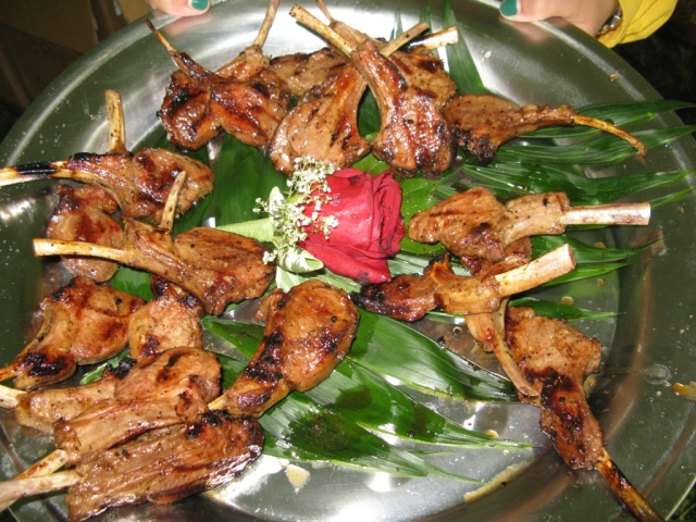 Appetizers - grilled lamb chops...