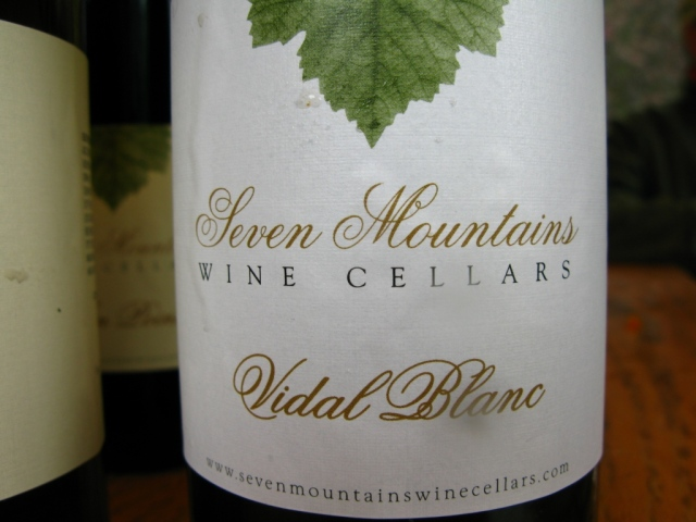 ...and a Vidal Blanc, among their wines at the event.