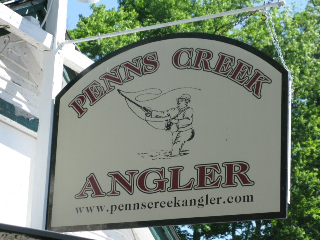 Penn's Creek Angler sign.