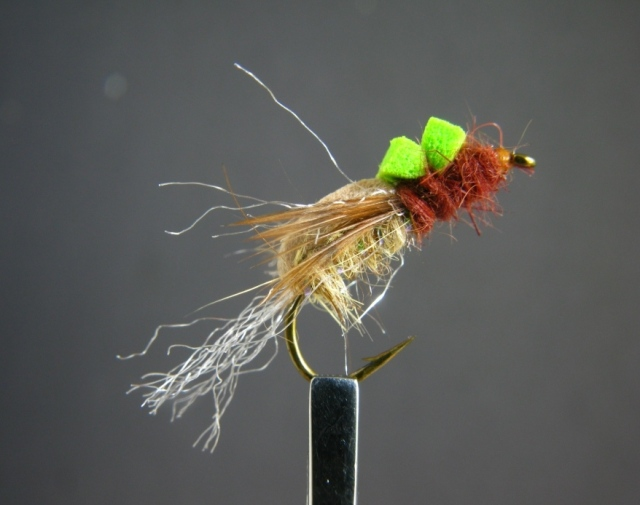 Bastian's Floating Caddis-Mayfly Emerger