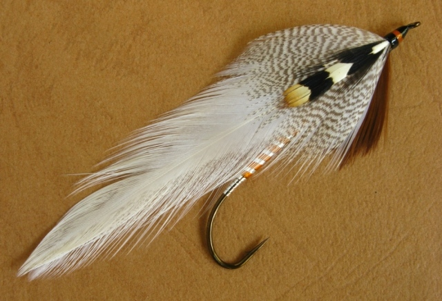 Queen of the Waters - the hook is a size #2 - 8x long - gaelic Suptreme Martinek / Stevens Rangeley Style Streamer.