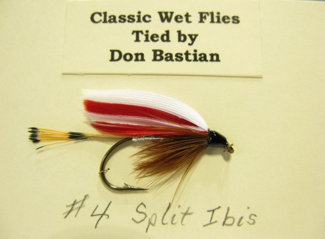Split Ibis wet fly, tied and photographed by Don Bastian.