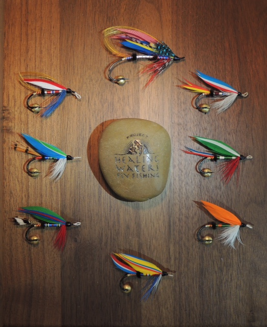 Project Healing Waters Fly Fishing Inc, presentation frame of contemporary designed classic wet flies.