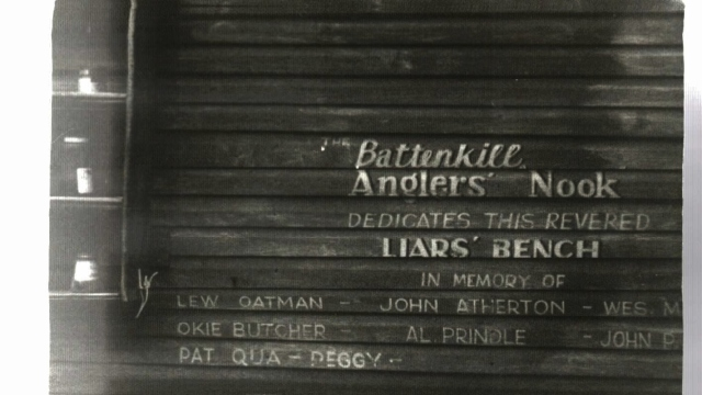 The Battenkill - The Angler's Nook Liar's Bench