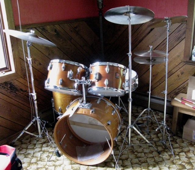 My drum set - a vintage  Premier PD6500 Powerhouse set.