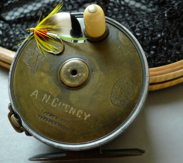 Hardy reel that belonged to A.N. Cheney of Glens Falls, New York; once editor of