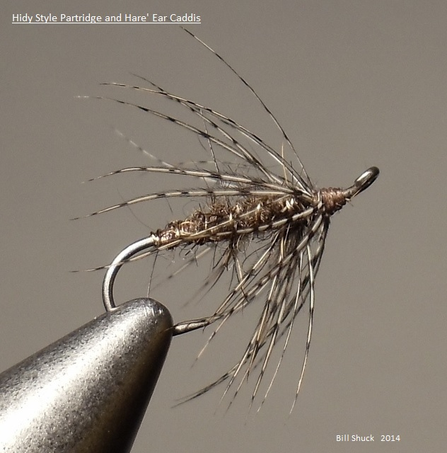 Partridge and Hare's Ear Soft-hackle Caddis / Flymph. Tied and photographed by Bill Shuck.