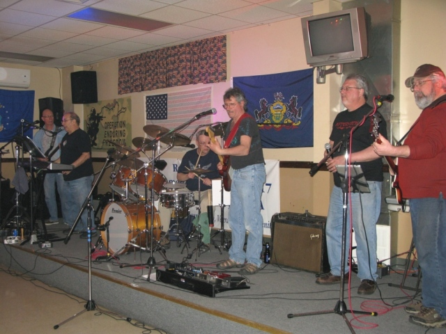 The Pepper Street Band - left to right;