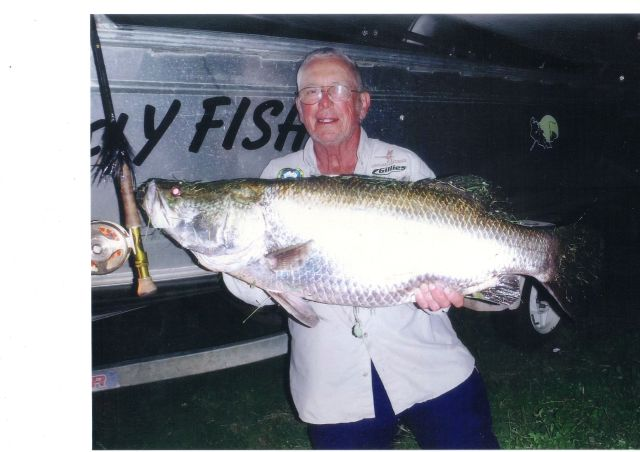 40 lb. Barramundi, caught in Lake Awonga, Queensland, Australia, by Kevin Laughton.