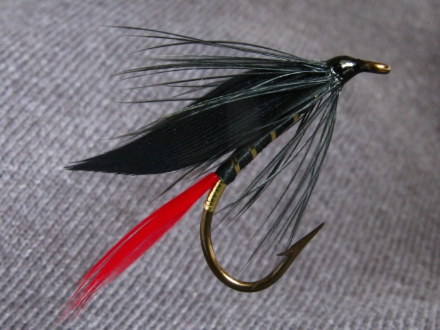 Black Prince - classic wet fly. The hook size is #6,Mustad vintage style No. 3399.