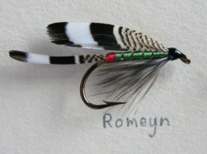 Romeyn - #6. Illustrated in Marbury's book, and also included as a Lake Fly in the 1893 Orvis Display at the American Museum of Fly Fishing in Manchester, Vermont.