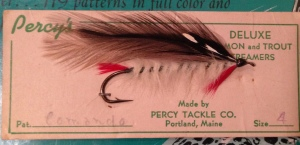 Comando Streamer, carded and sold by The Percy Tackle Company. Gardiner Percy was the company founder.