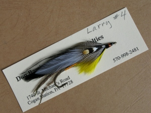 Larry - a streamer pattern designed by Carrie Stevens and named after Larry Parsons, owner of Lakewood Camps from 1945 to 1974.