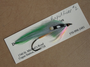 Rapid River - the fourth streamer pattern created by Carrie G. Stevens and associated with the Rapid River, Lakewood Camps, and former camp owner Larry Parsons.