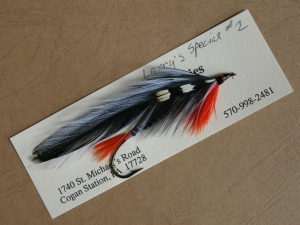Larry's Special - the second of two streamer patterns created by Carrie Stevens, named for Larry Parsons, owner of Lakewood Camps from 1945 - 1974.