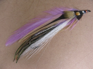 Kelley'dsd Killer, this is aan original streamer dressed by Carrie Stevens. Photo by Don Bastian. Fly courtesy of Jim Kennedy.