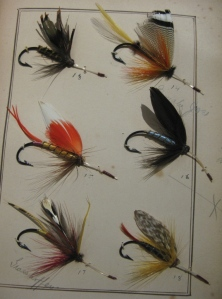 Tomah Joe, Lake Fly pattern, at top right. This plate of Lake Flies is over 130 years old.