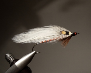 Queen of the Waters, tied by Bill Shuck. This pattern is not in the Hilyard book, but is in Forgotten Flies. An original tied by her is photographed.